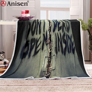 high quality custom varieties thick fleece polyester printed blanket