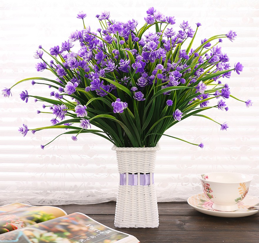 2pcs lot real touch decorative artificial flowers cheap vivid plastic fake plants silk flower. Black Bedroom Furniture Sets. Home Design Ideas