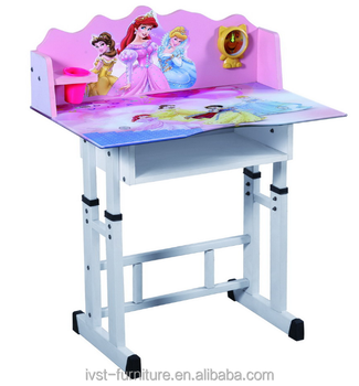 Modern Glass Top Kids Study Desk And Chair/children Table And Chair Set