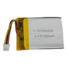 JOY 582838 3.7v 550mah rechargeable polymer li-ion battery GPS replacement lipo battery