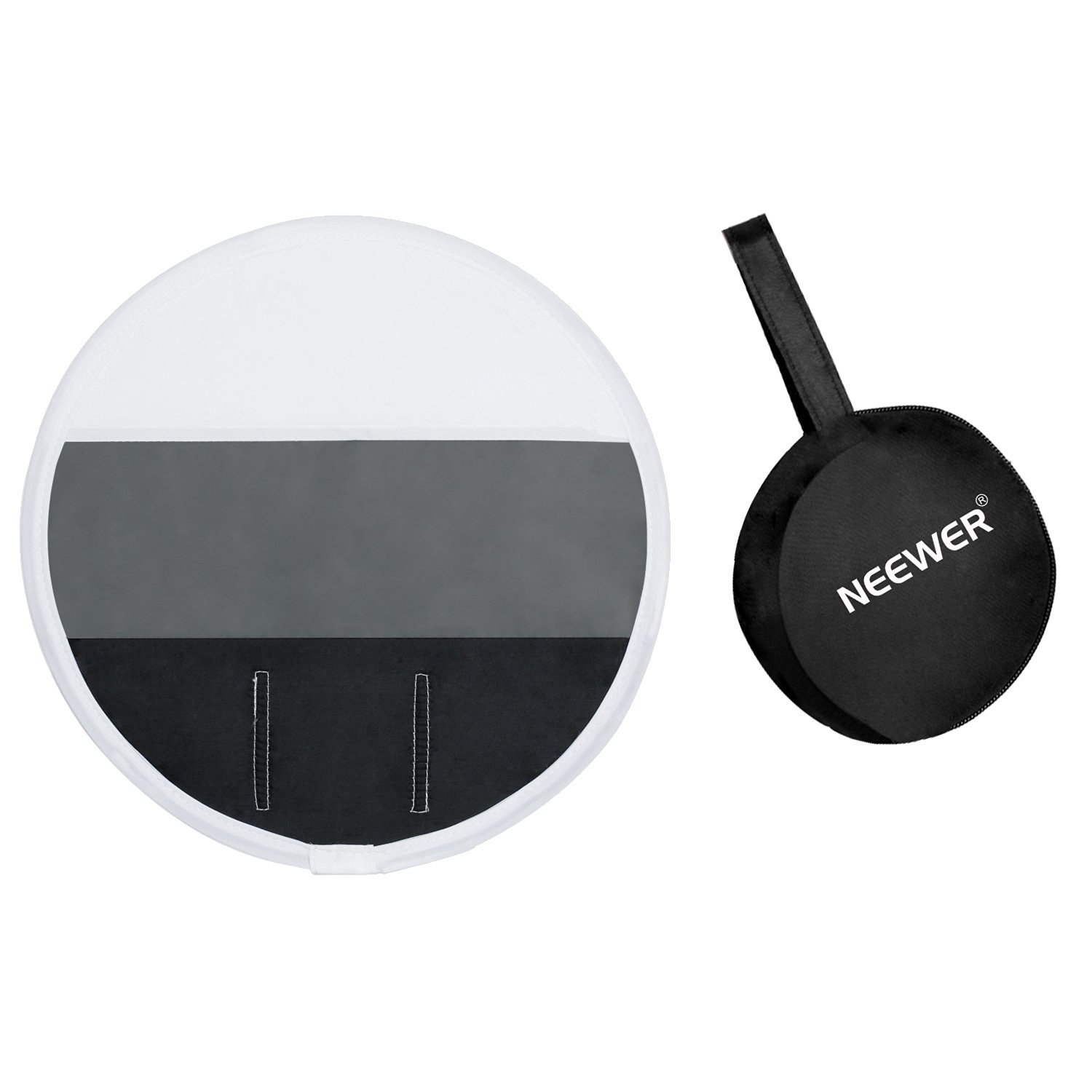 """Neewer 12""""/30cm 3-Color Balanced Portable Mini Round Soft Box Diffuser (Black, Gray, White) Diffuser Gray Card for Cannon, Nikon, Neewer, Yunnuo, Altura, Other External Speedlight Units"""