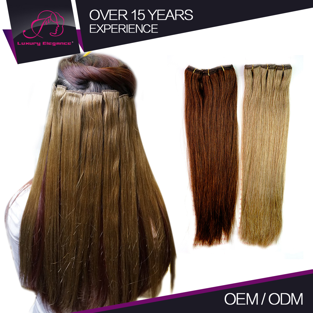 Wholesale 100 Grams Single Clip In Hair Extension Indian Remy Hair