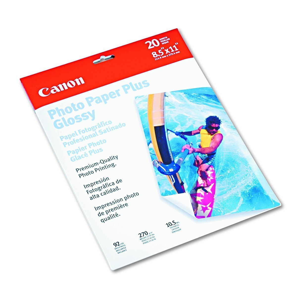 Canon Photo Paper Plus, Glossy (7980A006, 8.5x11, 20 Sheets)