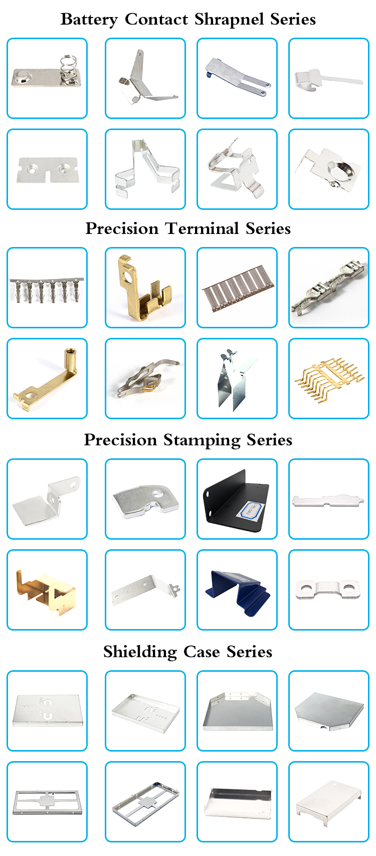 Custom made auto precision small sheet metal stamping parts