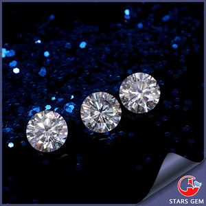 factory price 5mm forever brilliant white E-F color round synthetic moissanite