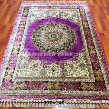 2048328b78a2 Яркий фиолетовый ручной работы Лаванда поле mordern цвет комбинации ковры ручной  работы/rugs