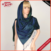 Shiny reversi color pure silk scarf shawl for turkey