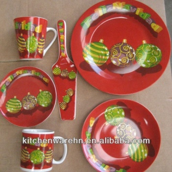 Factory directly wholesale KC-1310 Christmas dinner plate set