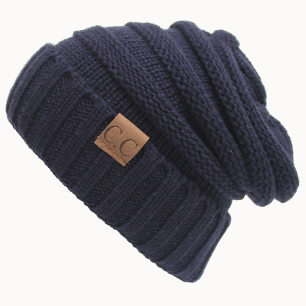 Factory Cheap Womens Cable Knit Cute Beanie Thick Caps Hat Adults Unisex Slouch Color CC