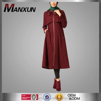 Modern Semi Formal Party Dress Felt Top Coat For Girls Maroon Turkey