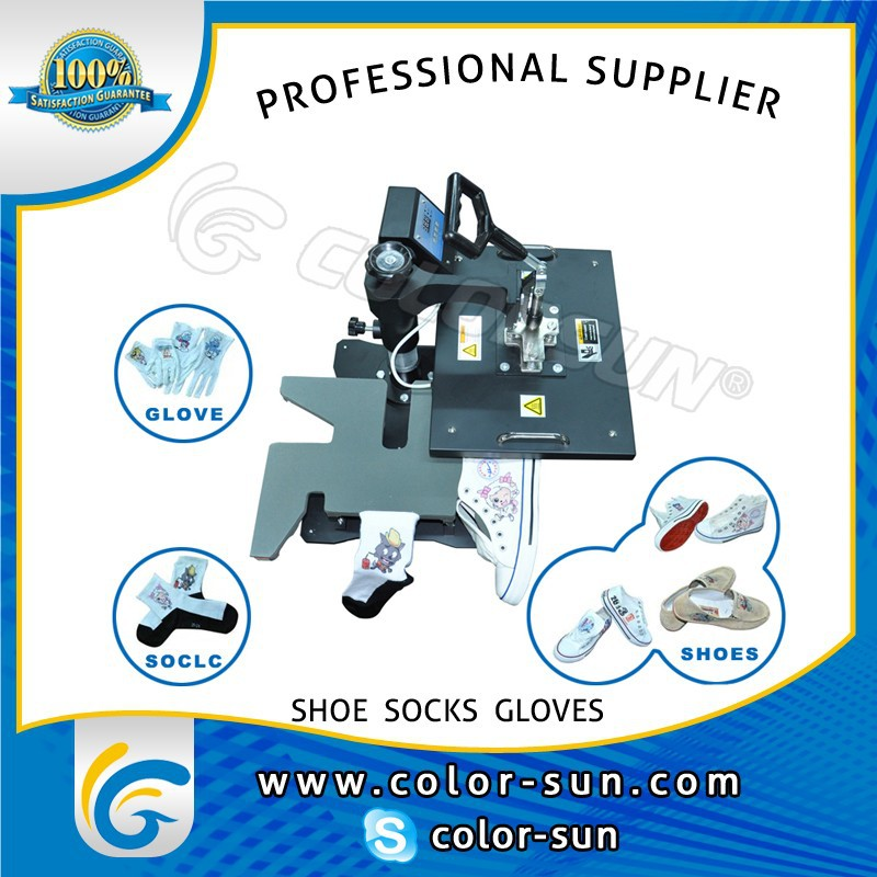 shoes sublimation transfer machine for priting shoes/gloves/socks with CE approved