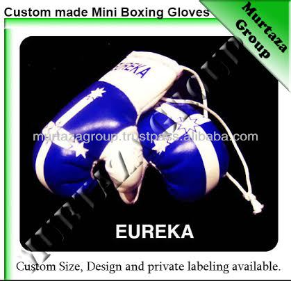 Flag Printed Mini Boxing Gloves for Car and Key Chains