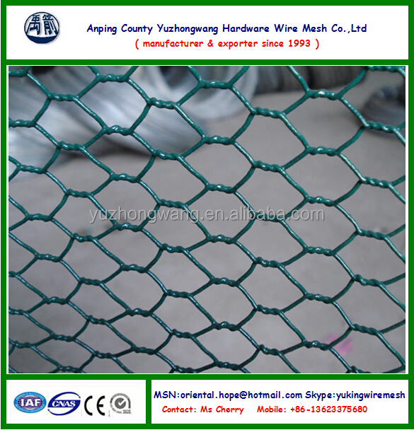 Vinyl Coated Hexagonal Wire Netting,Black Color,Green Color (anping ...