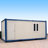 Heat-insulated 20ft detachable plans prefab container house for Workshop
