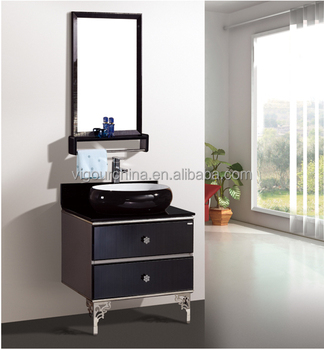 Piso de pie de acero inoxidable dise o moderno espejo de ba o lavabo de bv 8353 buy cuarto - Espejo retroiluminado bano ...
