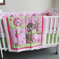 100% cotton pink comfortable baby comforter