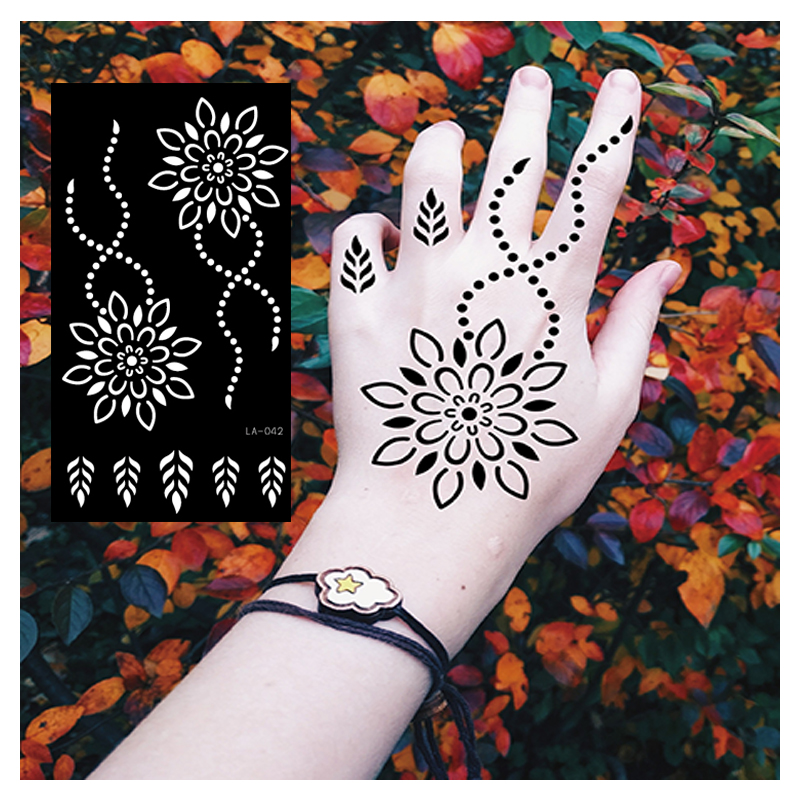 Semi permanente tattoo Stencils voor Henna Tattoos