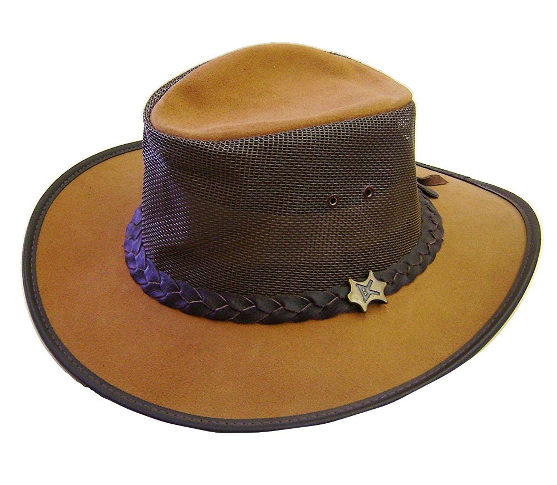 1f5f955b8 Buy Modestone Unisex Leather Cowboy Hat Leather Crocodile Skin ...