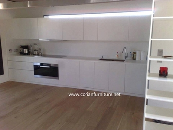 A Top Quality White Corians Hanex Acrylic Solid Surface For Kitchen  Countertop