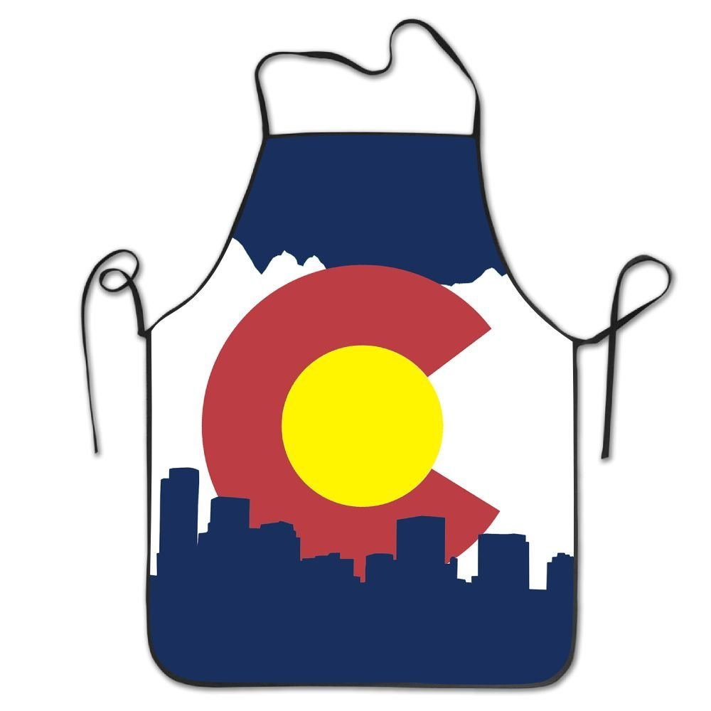 Flag Of Colorado Kitchen Cooking Apron For Women And Men - Adjustable Neck Strap - Restaurant Home Kitchen Apron Bib For Cooking, Grill And Baking, Crafting, Gardening, BBQ