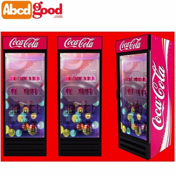 Glass door refrigerator for coca cola with transparent lcd display glass door refrigerator for coca cola with transparent lcd display screen planetlyrics Choice Image