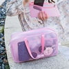 Travel beach wash bag dry and wet separation mesh PVC cosmetic bag