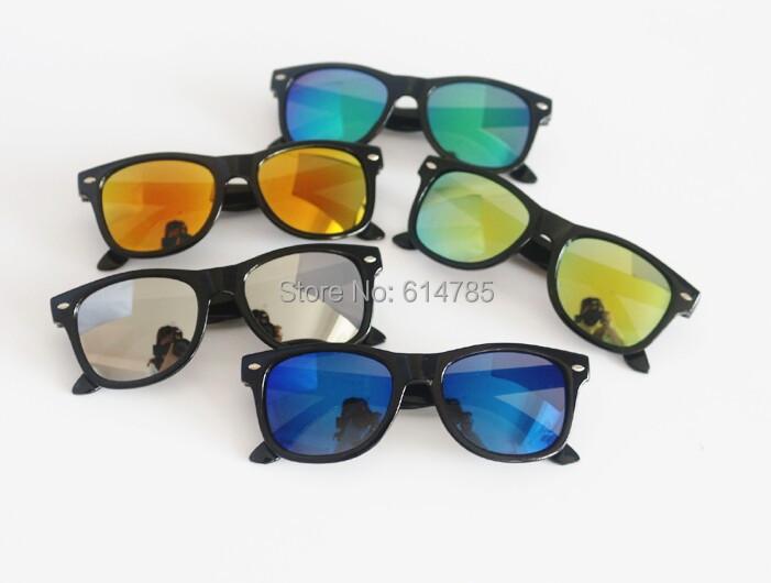 79e070398ee9 Kids Children Boys Girls Sunglasses Mirror lens cool child baby sunglasses  Eyewear Black Round Plastic Frame Oculos Gafas Uv 400