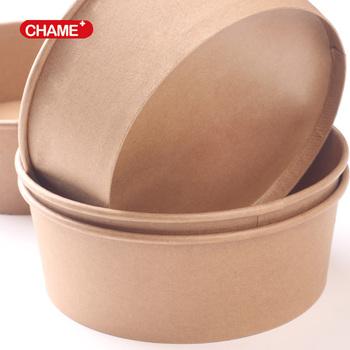 Brown Paper Salad Bowl,disposable Salad Bowl