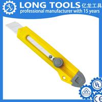 ABS case plastic folding pocket knife quick release blades utility knife