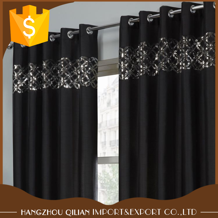 Free Sample offered Lined Curtains In Black