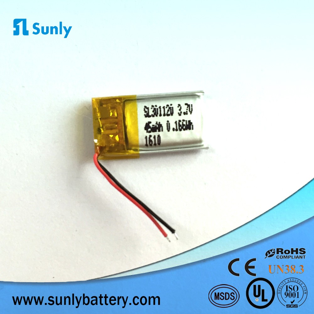 300824 3.7V 25mAh 3mm thickness wholesale rechargeable lipo battery