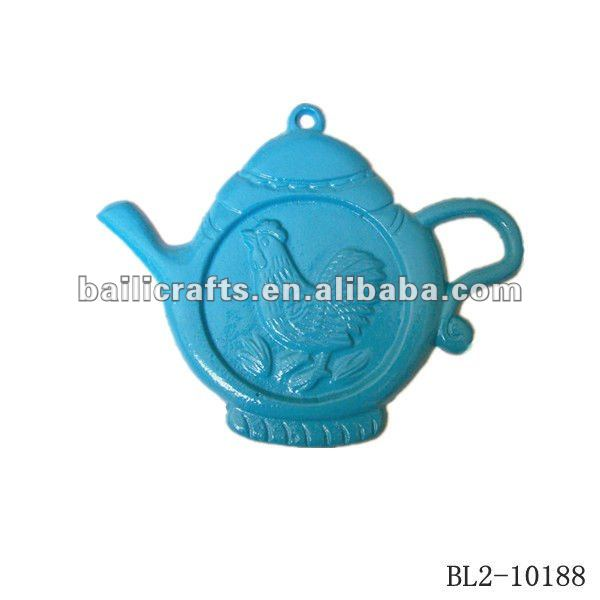 iron teapot wall decor