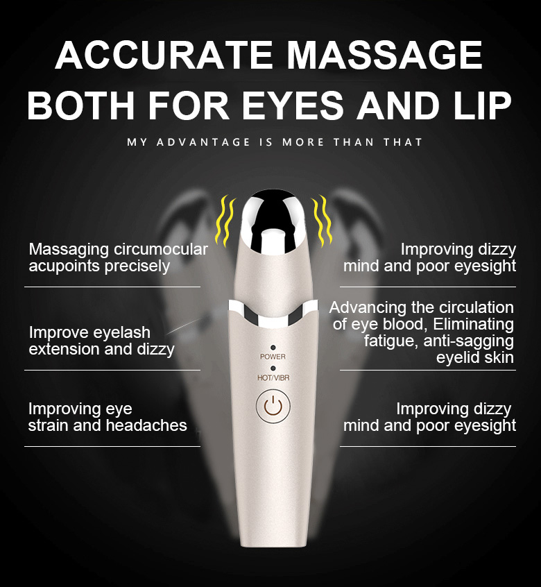 Warm vibration home eye and lip beauty device personal care homemade beauty 18th years factory support oem siken3d