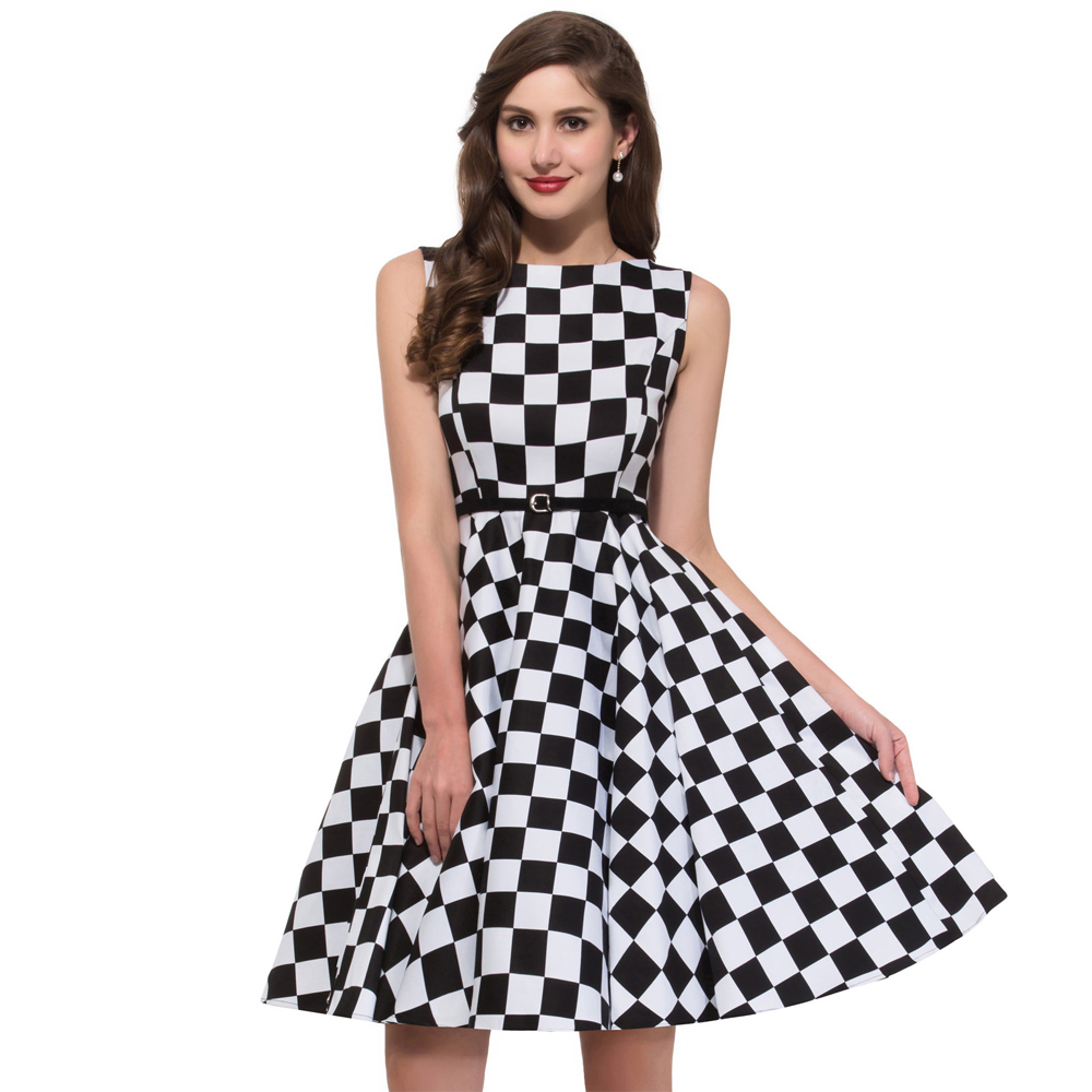 summer style 50s rockabilly dress 50 jahre kleid leo pin. Black Bedroom Furniture Sets. Home Design Ideas