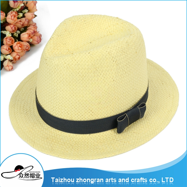 China Supplier High Quality Supply Men Straw Boater Hat Decorating Straw Hats