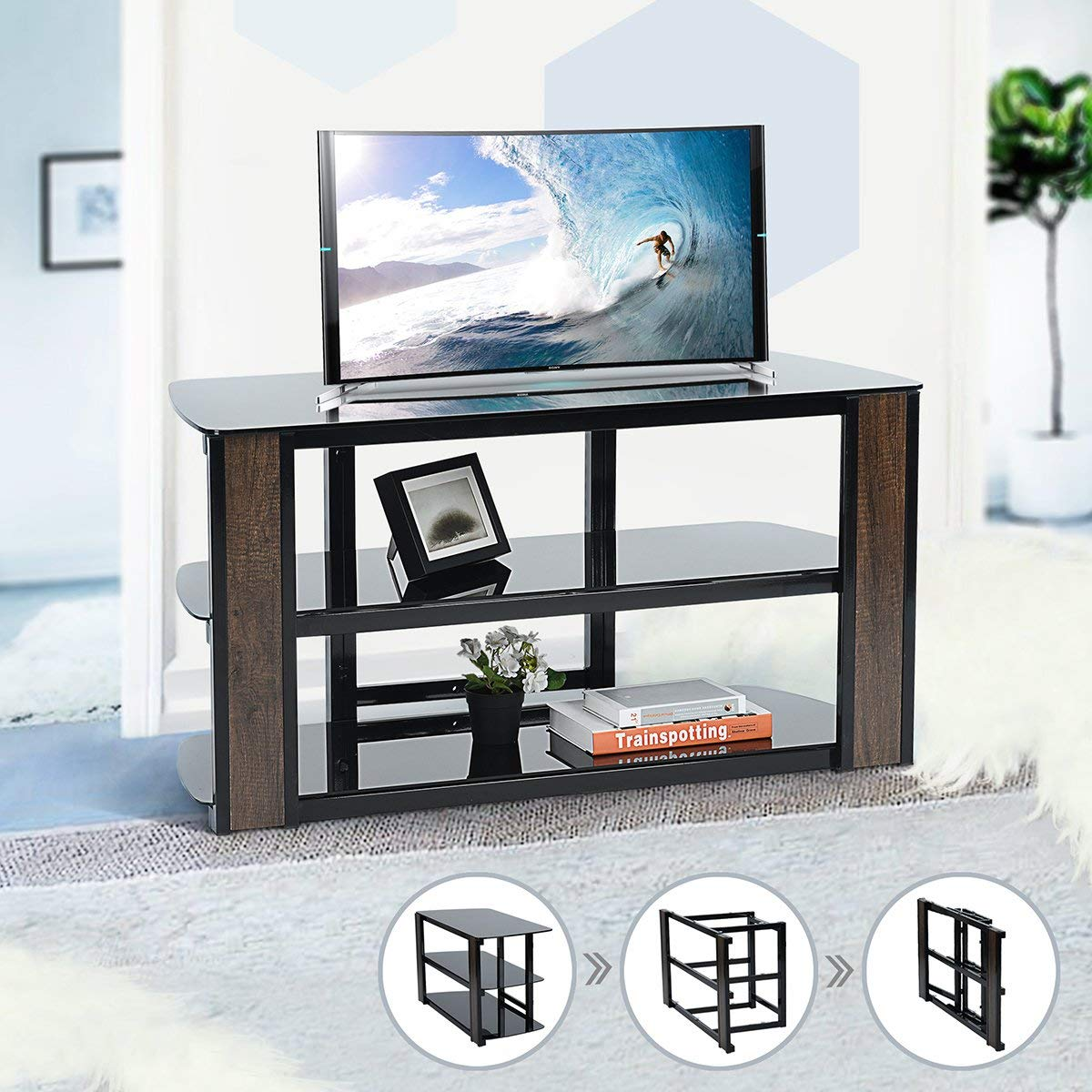 Cheap Glass Tv Stand 42 Inch Find Glass Tv Stand 42 Inch Deals On