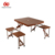 Built-in Chair Furniture Supplier Standard Match Picnic Camping Portable Meeting Plastic Picnic Folding Tables and Chairs