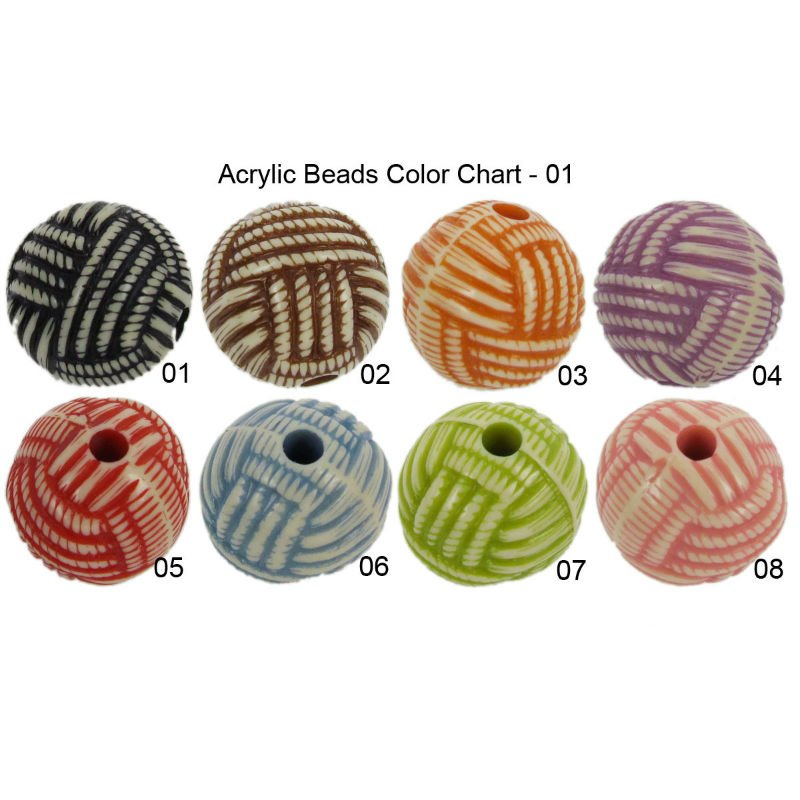 Tube Solid Acrylic Beads