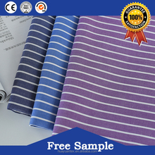 Clients custom clothing stripe fabric blue and white for shirting