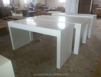 Top Quality Solid Surface Bar Counter/table Top,Glossy White High Table  Solid Surface