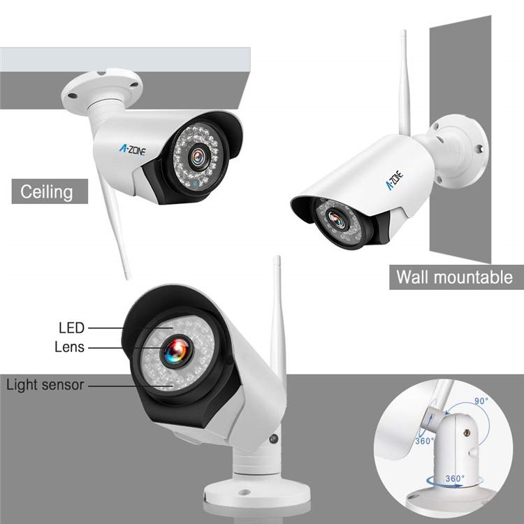 屋外 CCTV セキュリティアルミ合金ワイヤレス 960 1080P IP67 フル Hd 1.3Mp セキュリティ P2P ワイヤレス CCTV 弾丸カメラキット