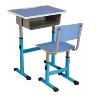 High Quality and Cheap School Student Single Study Writing Folding Desk and Chair