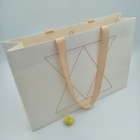 European and American high-end brand clothing handbag gift paper bag with ribbon specialty paper