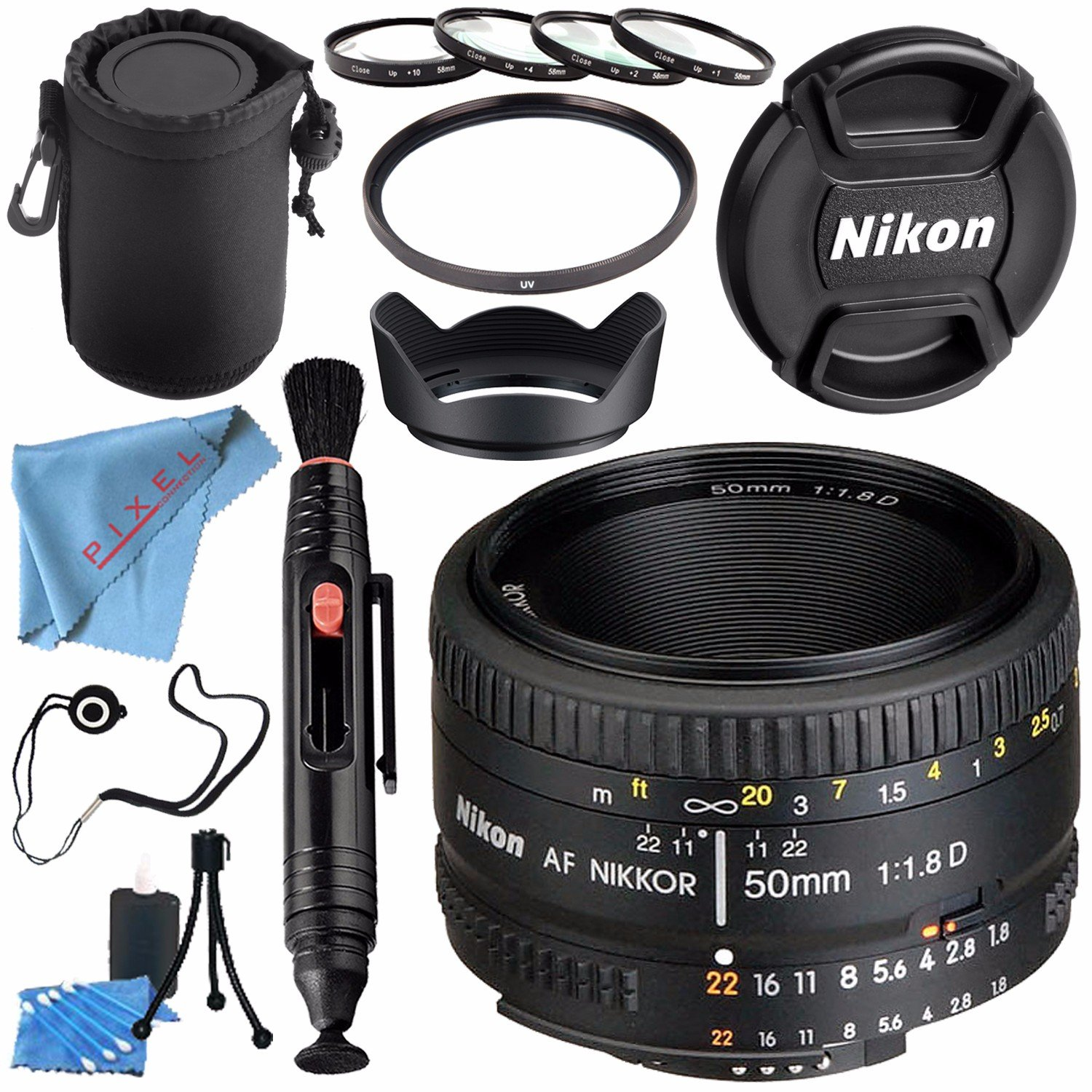 Buy 52mm Standard Metal Lens Hood Telephoto Screw In Cap Canon Nikon Af Nikkor 50mm F 18d 2137 Uv Filter Macro Close Up Kit Tulip Pen Cleaner Fibercloth Capkeeper