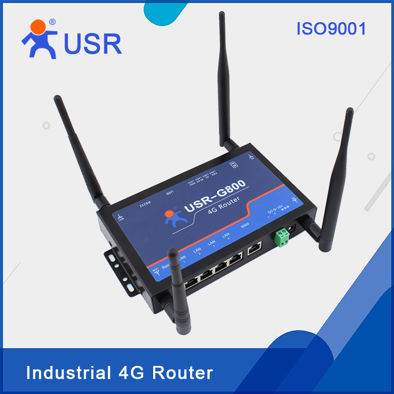 USR-G800-42 4G Router,TD-LTE Band 38 / 39 / 40 / 41 and FDD-LTE Band 1 / 3 Network