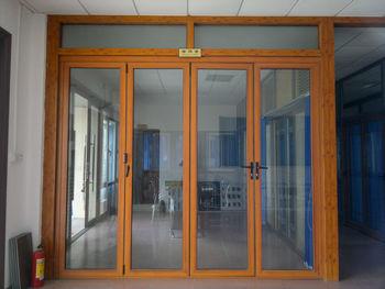 Wood Effect Aluminium Folding Doors Prices Factory In Guangzhou ...