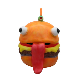 2018 Halloween Hot Game Burger Head Party Latex Mask