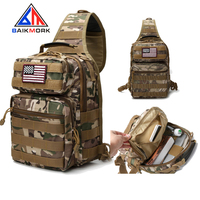 Free Sample Military Tactical Sling Bag Shoulder Sling Backpack Molle Range Bag Everyday Carry Diaper Bag Day Pack Tactical Gear