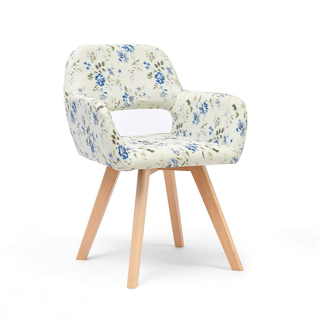Simple modern fabric dining chair Leisure chair Solid wood chair foot desk chair Computer chair Commercial conference chair Negotiating chair Multiple colors to choose from (Color : H)