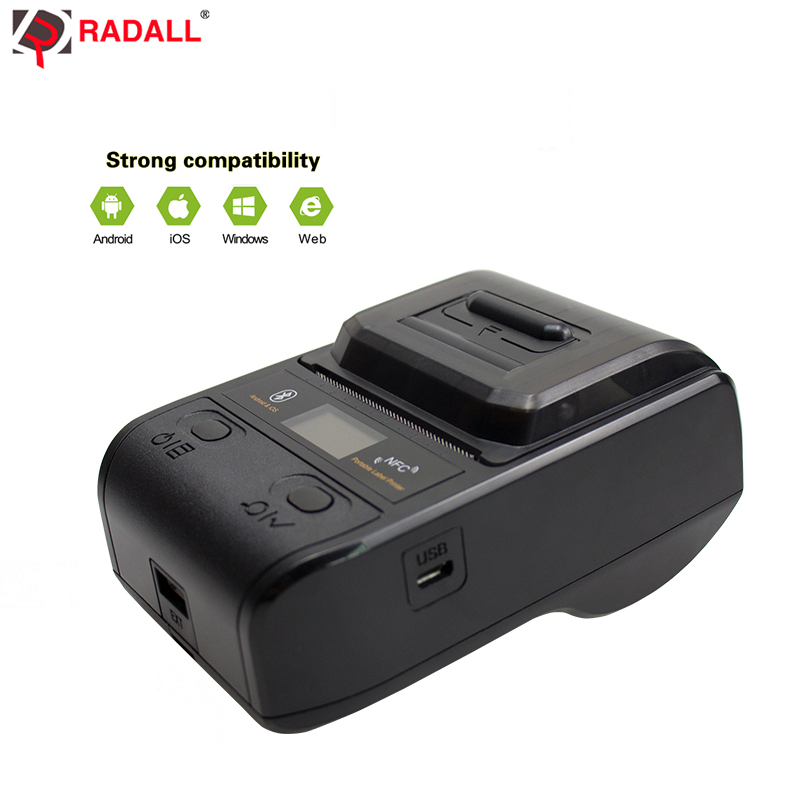 New Arrival Factory Mobile Thermal Label maker 58mm bluetooth printer